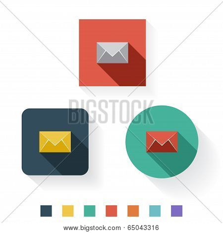 Email Flat Icon Design