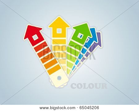 Symbol of a paint for the house