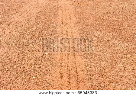 Tire Mark In Laterite.
