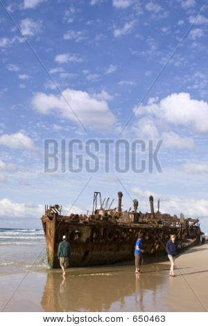 Maheno Ship Wreck On Fraser Island