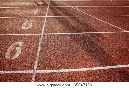 Number On Running Track With Shadow