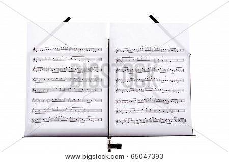 Music Stand in closeup