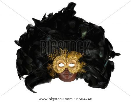 Photo Of Venetian Mask Over White