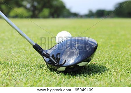 Golfer Ready To T- Off