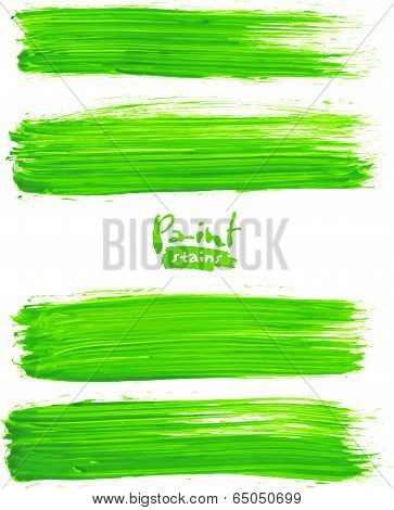 Bright green acrylic brush strokes