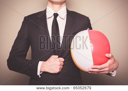 Businessman With Beach Ball