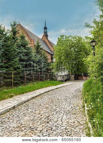 Historical St James Church in Sandomierz, Poland, part of the famous Pilgrim St James Routes
