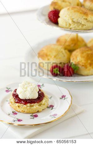 English Cornish Cream Tea, Vertical
