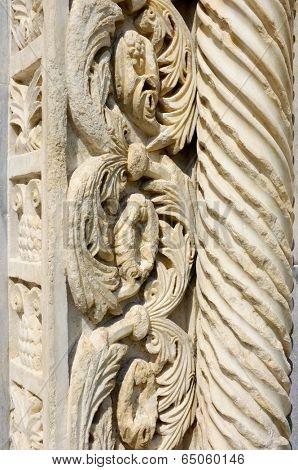 marble friezes Monastery Studenica Unesco World Heritage Sites, Serbia