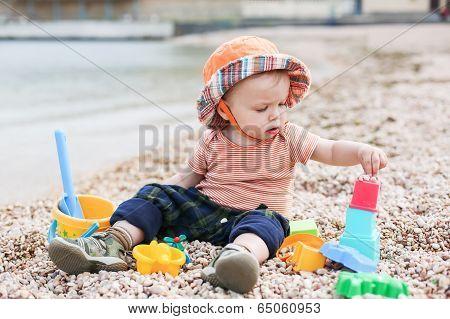 Cute Toddler Baby Playing