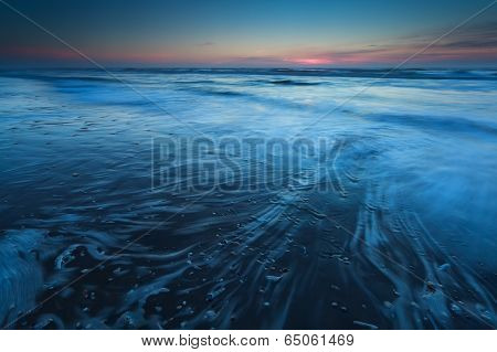 North Sea In Dusk
