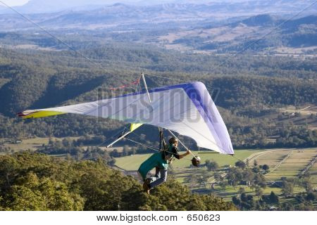 Close Up Hang Glider View