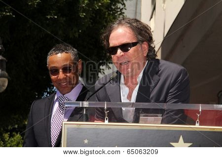 LOS ANGELES - APR 29:  Giancarlo Esposito, Timothy Hutton at the Giancarlo Esposito Star on the Hollywood Walk of Fame at Hollywood Blvd on April 29, 2014 in Los Angeles, CA
