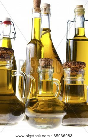 Series Of Bottles Of Olive Oil