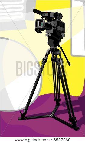 câmera de TV no estúdio