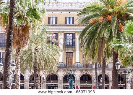 Plaza Real  In Barcelona, Catalonia.