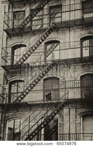 Old Building With Outdoor Staircase