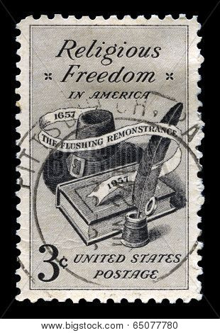 Relgious Freedom Us Postage Stamp