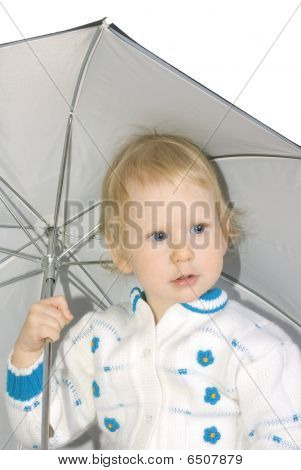 Girl Under Umbrella