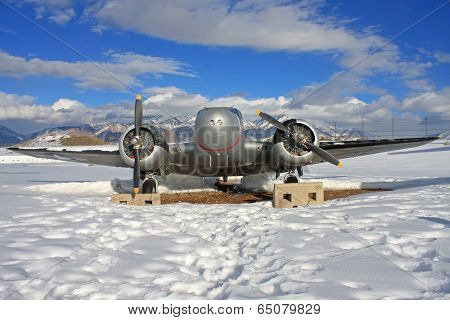 Vintage Military Airplane