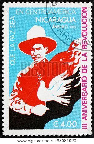 Postage Stamp Nicaragua 1982 Symbolic Dove