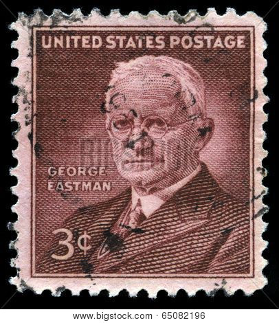 George Eastman Us Postage Stamp