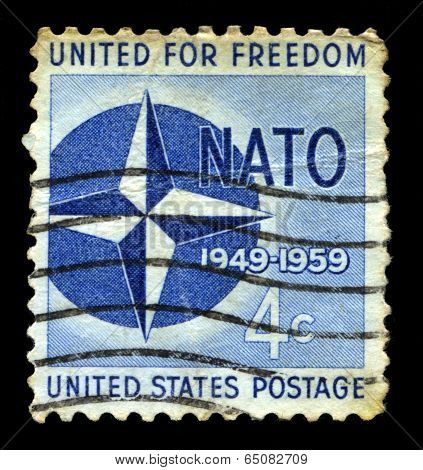 10Th Anniversary Of Nato Us Postage Stamp