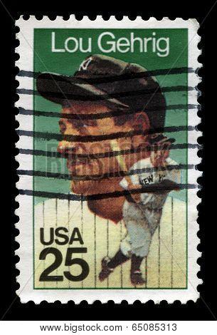 Lou Gehrig Us Postage Stamp