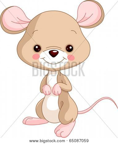 Farm animals. Illustration of cute Mice