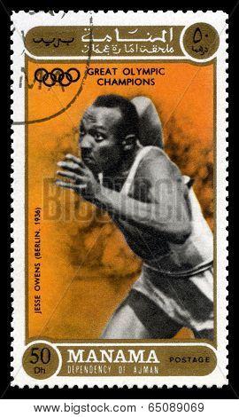 Jesse Owens Olympic Champion Postage Stamp