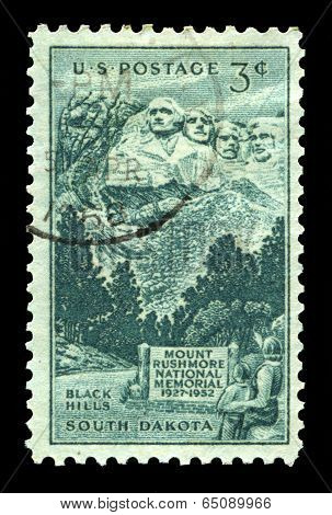 Mount Rushmore Us Postage Stamp