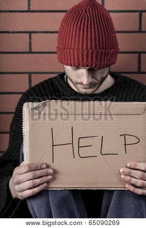 Man Begging For Help