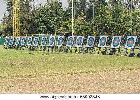 Many Archery Targets
