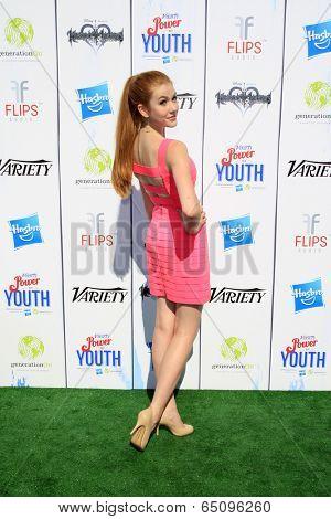 LOS ANGELES - JUL 27:  Katherine McNamara at the Variety's Power of Youth  at Universal Studios Backlot on July 27, 2013 in Los Angeles, CA