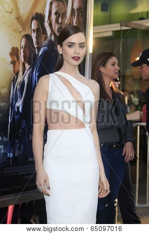 LOS ANGELES - AUG 12:  Lily Collins at the