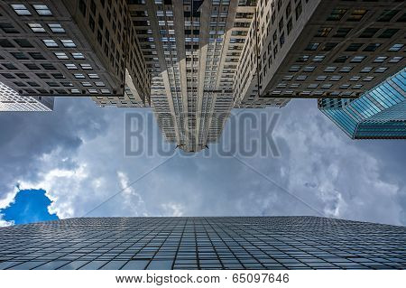 Skyscrapers toward the sky
