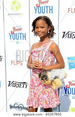 LOS ANGELES - JUL 27:  Quvenzhane Wallis at the Variety's Power of Youth  at Universal Studios Backlot on July 27, 2013 in Los Angeles, CA