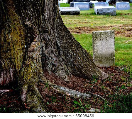 Forgotten tombstone