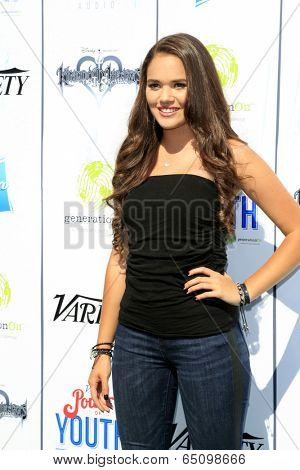 LOS ANGELES - JUL 27:  Madison Pettis at the Variety's Power of Youth  at Universal Studios Backlot on July 27, 2013 in Los Angeles, CA