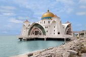 picture of masjid  - Malacca Straits Mosque  - JPG