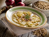 pic of chickpea  - soup with  chickpeas and pasta - JPG