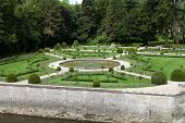 foto of poitiers  - Gardens at Chateau Chenonceau in the Loire Valley of France - JPG