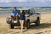 Backpackers 4WDing On Australia's Fraser Island poster