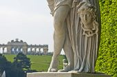 stock photo of schoenbrunn  - sculpture - JPG