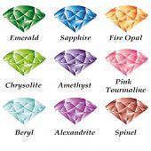stock photo of alexandrite  - Set of jewels  - JPG