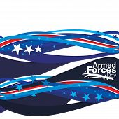 stock photo of tribute  - An abstract illustration of Armed Forces Day - JPG