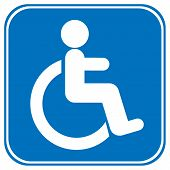 image of disability  - Disabled icon sign on white background  - JPG
