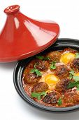 stock photo of tagine  - kofta tajine - JPG