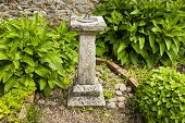 stock photo of sundial  - A sundial in Dunster Park - JPG