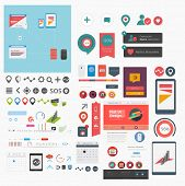 stock photo of poi  - Large collection of flat web graphics - JPG